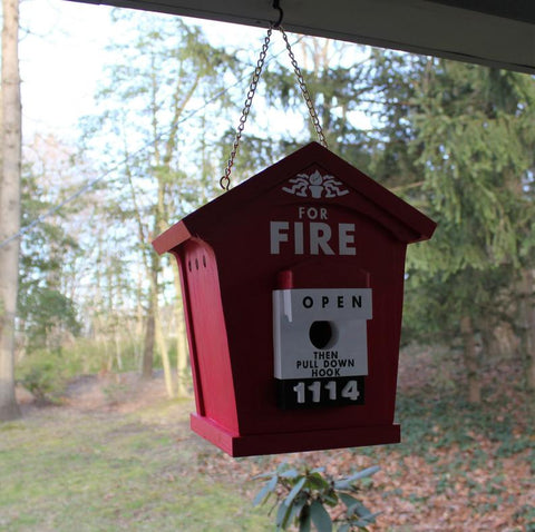 Fire Alarm Call Box Birdhouse