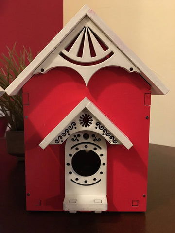 Laser Cut Bold and Colorful Birdhouses - Design Plans