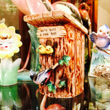 Giftcrest Birdhouse with Oriole Family Piggy Bank
