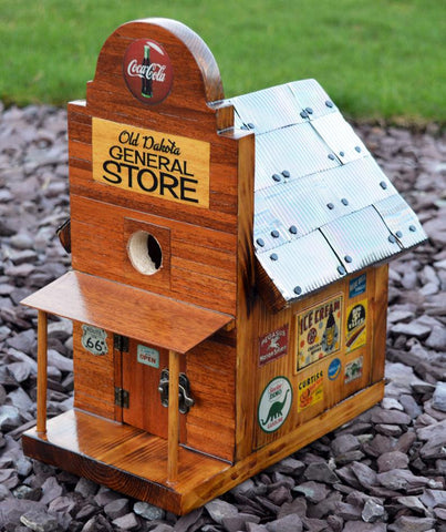 1950's Style Americana Birdhouse By Old Dakota. General Store. Solid wood