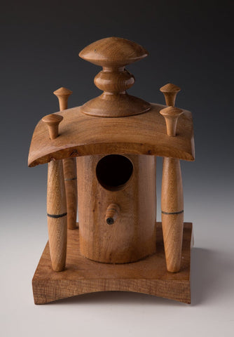 Craft, Irish wood craft, bird house, wood turning