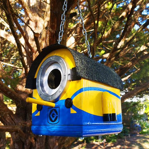 Marvin the Mini Minion Birdhouse | The Minions Small Birdhouse