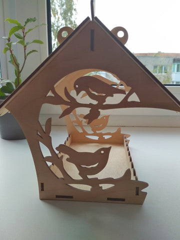 Birdhouse vector svg dxf files, laser cut.