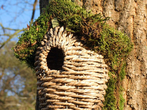 Natural Moss Outdoor Birdhouse Hanging Bird House