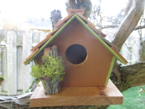 Mossy Branch Cabin birdhouse Oregon cedar made in Oregon