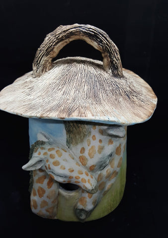 My precious Giraffe bird house