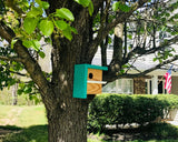 The Cube Birdhouse | Art Deco Birdhouse | Handmade Birdhouse