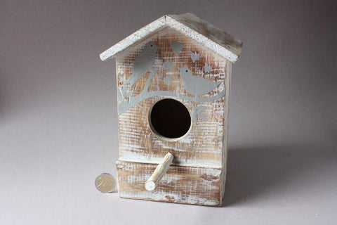 Rustic bird house wooden, rustic home decor, small birdhouse handmade