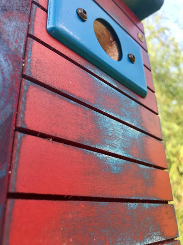 Modern Birdhouse, Rustic, Weathered, The Wonder