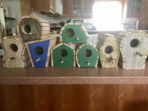 Holiday Whimsical Birdhouses