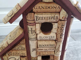 Wine Cork Birdhouse  Winecork Bird House  Wine Lover Gift  Bird Lover Gift