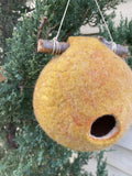 Wool birdhouse bird home wet felting birdhouse unique gifts garden decor