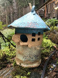 Birdhouse Blue with copper green