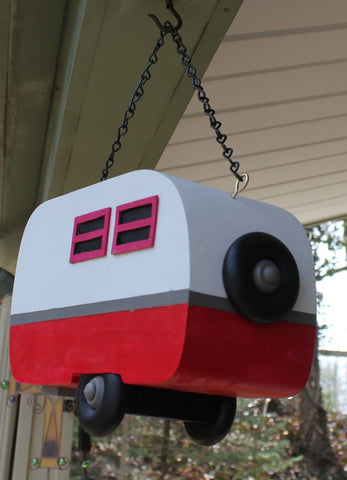 Travel Trailer Birdhouse : solid wood