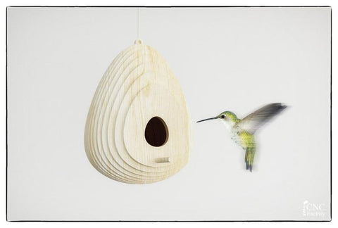 BIRD HOUSE - wood - template cutting file