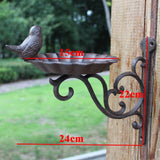Wall Mount Cast Iron Bird Bath Or Feeder Rust Brown Color