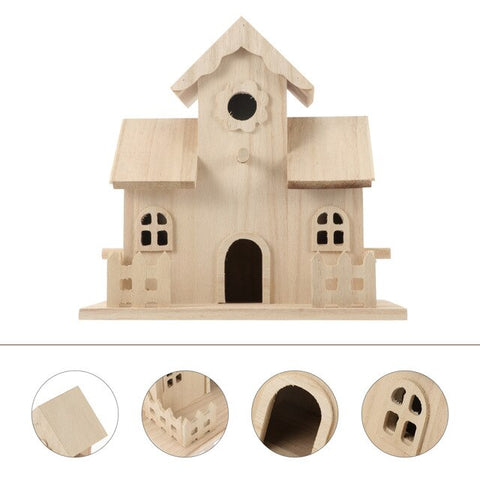 1pc Birds Living Nest Durable Home Decoration Wooden Birdhouse Breeding Box