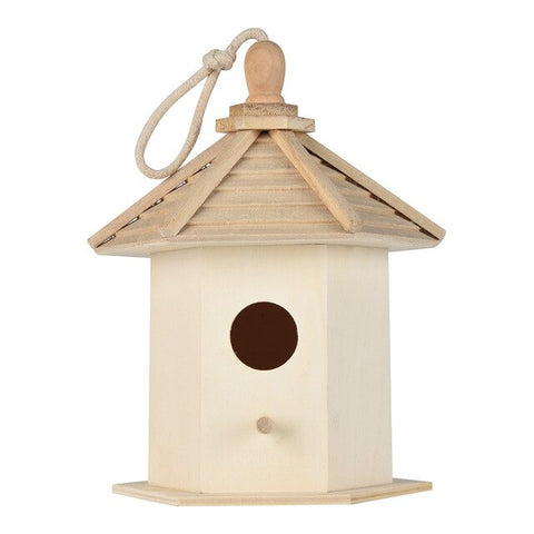 Bird House Wooden Box Wooden Bird Nest Hanging Birds House