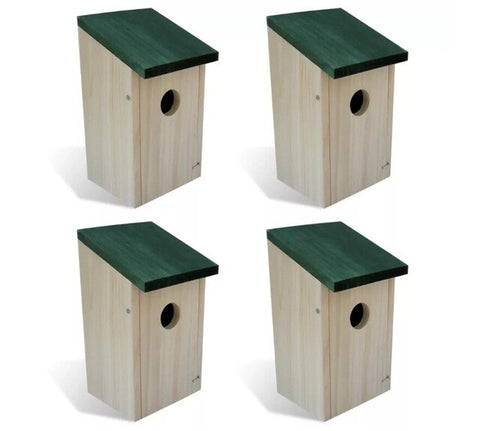 Wooden Garden Bird Cages Nests Bird House Set Wood Box
