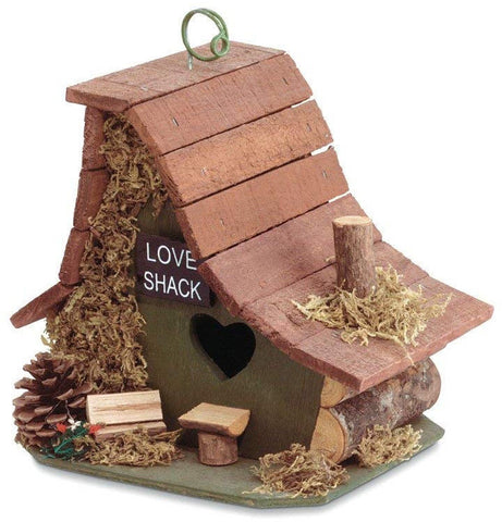 Gifts and Decor Wood Love Shack Bird House