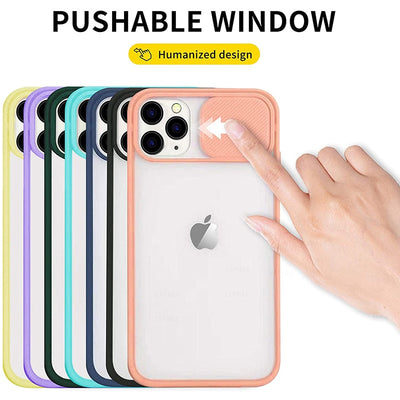 Slide Camera Lens Protection Phone Case For iPhone 10