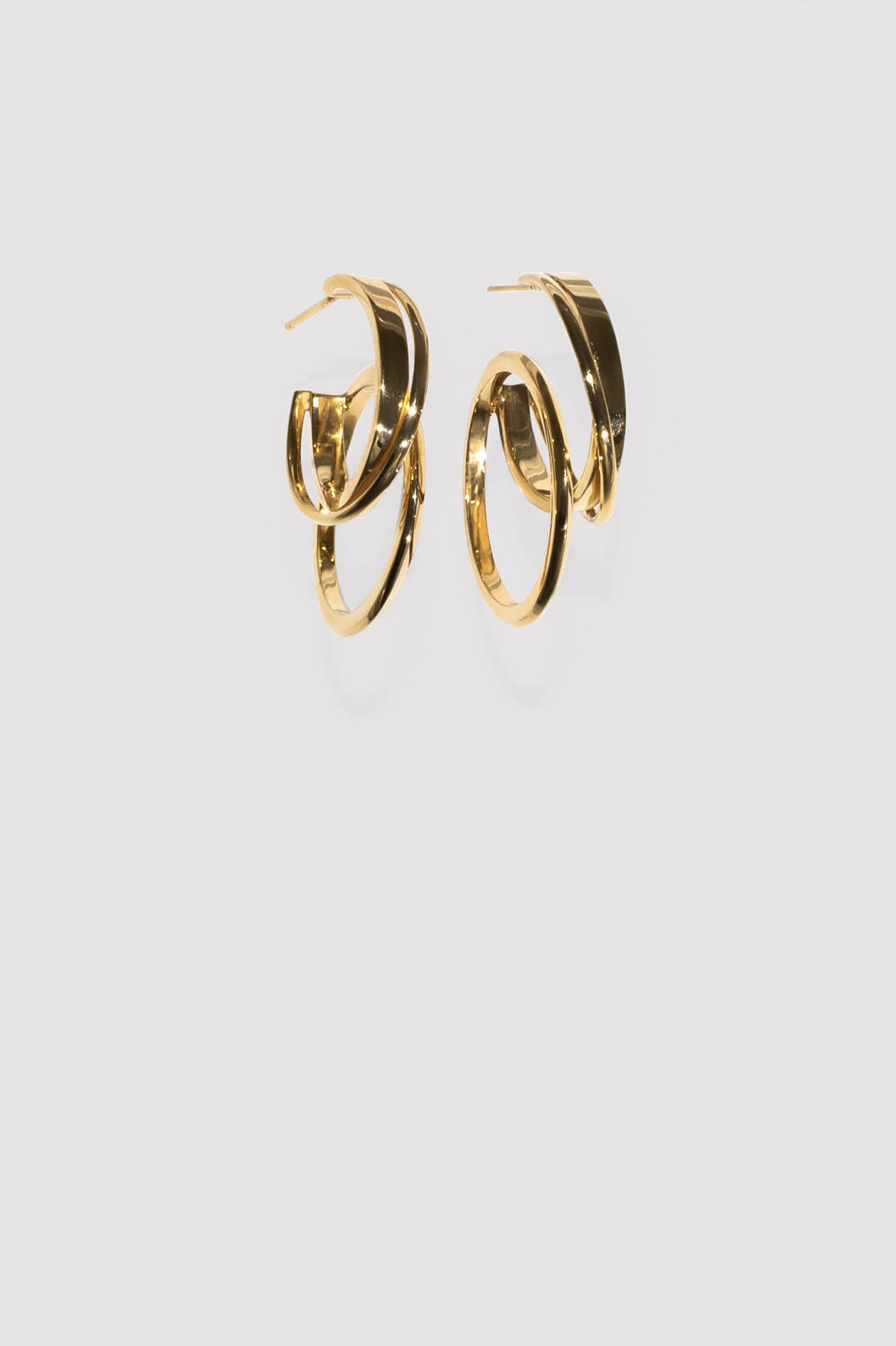 10Y LVK Earring 02 Gold Plated Silver
