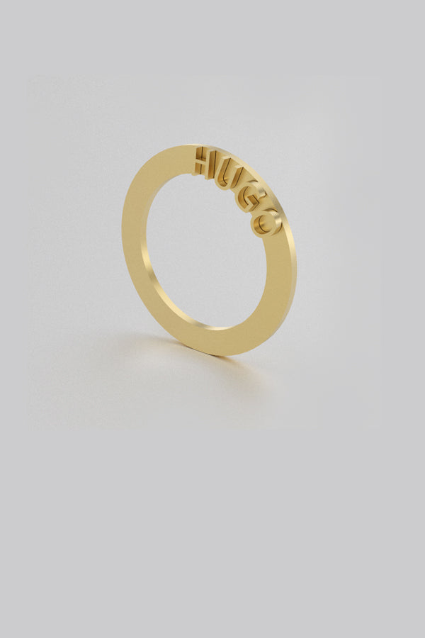 Ode Ring 01 Gold Plated Silver