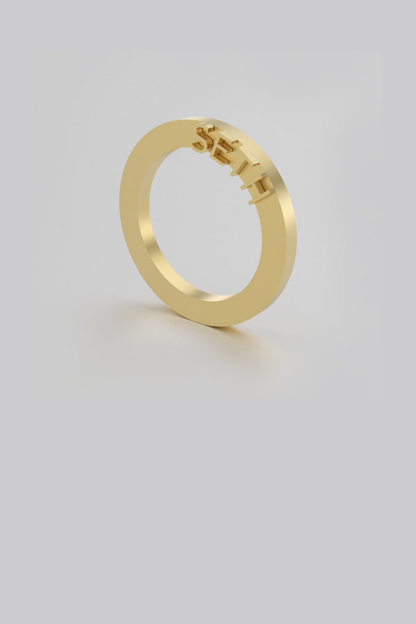 Ode. Ring 02 Gold Plated Silver