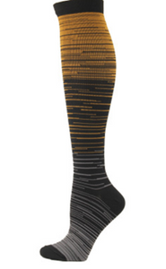 Sports compression socks men and women striped gradient long