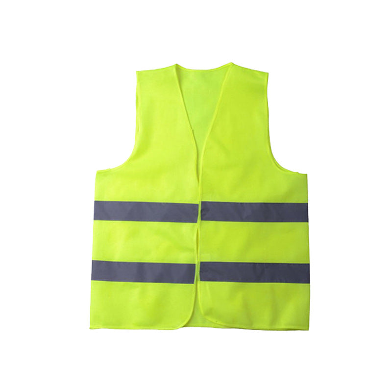 ECVV006 Reflective Safety Vest Unisex Reflective Vest Workwear High Visibility Day Night Running Cycle Warning Green Orange Construction Safety Vest