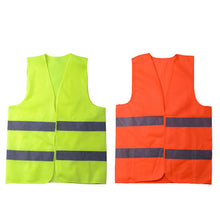 Load image into Gallery viewer, ECVV006 Reflective Safety Vest Unisex Reflective Vest Workwear High Visibility Day Night Running Cycle Warning Green Orange Construction Safety Vest