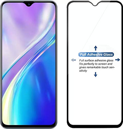tempered glass for : realme xt (black, full glue, pack of 1)