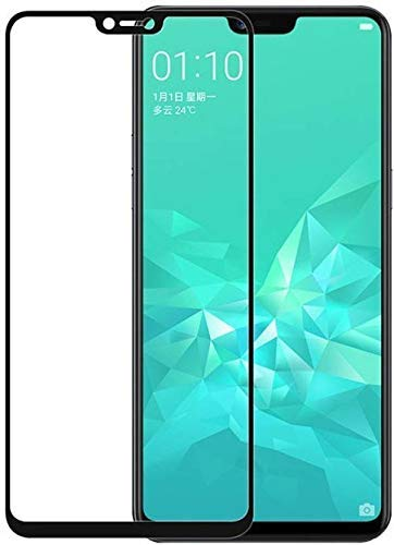 Tempered Glass (Black) for REALME 2 / C1 / A3S – Edge-to-Edge Screen Protector