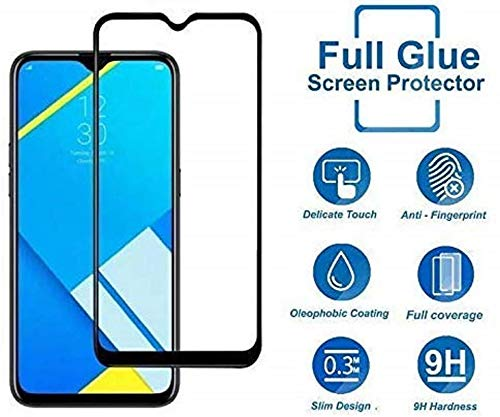 Tempered Glass Screen Protector For Realme X2 (Black) Edge to Edge Full Screen Coverage With Easy