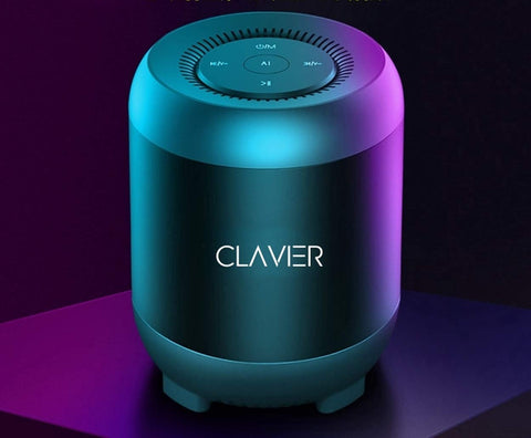 Clavier Atom Ultra Premium Bluetooth Speaker - Loud 360° HD Surround Sound, Wireless Dual Pairing, 10H Battery, IPX5 Waterproof with Rich Bass
