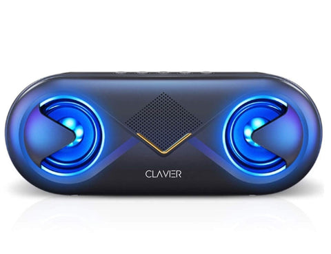 Clavier Supersonic Portable Bluetooth Speaker, Bluetooth 5.0 Wireless Speakers with 10W HD Sound and Rich Bass, 12H Playtime, Built-in Mic for iPhone & Android