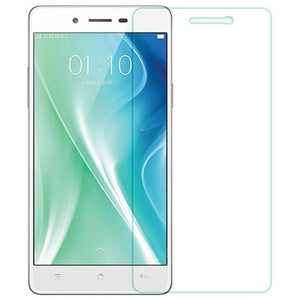 oppo a37 tempered glass screen protector  (Transparent)