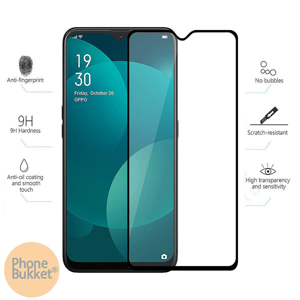 Tempered Glass Screen Protector for Oppo F11 (Transparent) Edge to Edge Full Screen Coverage, Pack of 1