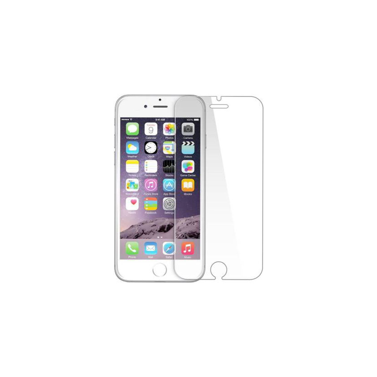 Front Tempered Glass for Apple iPhone 6 (white)