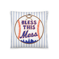Bless This Mess (White) - Throw Pillow