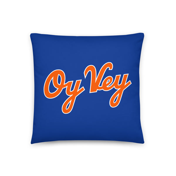 Oy Vey (Blue) - Throw Pillow