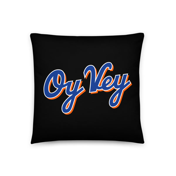 Oy Vey (Black) - Throw Pillow