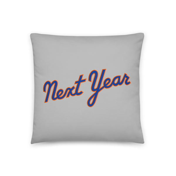 Next Year Script (Grey) - Throw Pillow