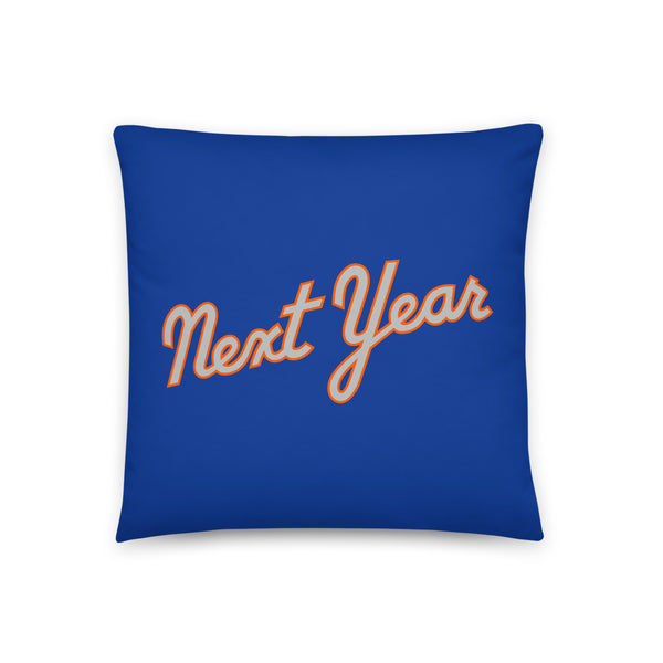 Next Year Script (Blue) - Throw Pillow