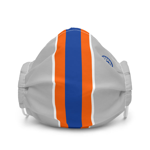 Racing Stripe (Grey) - Face Mask