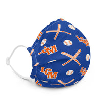 LGM Monogram (Blue) - Face Mask