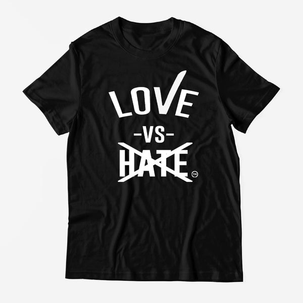 Love -vs- Hate Black T-Shirt