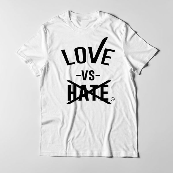 Love -vs- Hate Black/White T-Shirts