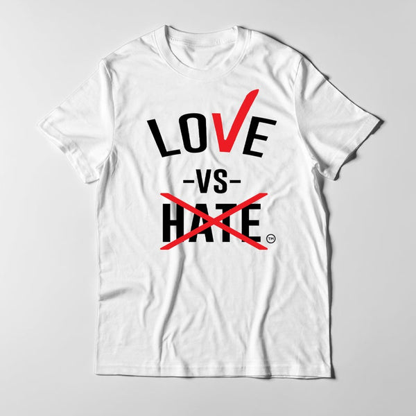 Love -vs- Hate Black/Red/White T-Shirt