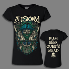 Load image into Gallery viewer, 'Rum Beer Quests Mead' Girlie Shirt